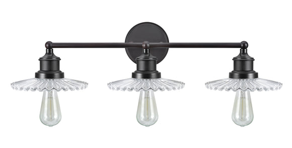 # 62107 Three-Light Metal Bathroom Vanity Wall Light Fixture, 38