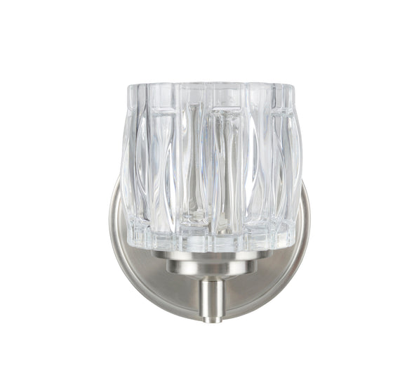 # 62109 1 Light Bathroom Vanity Wall Light Fixture, Brushed Nickel