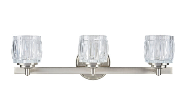 # 62111 3 Light Bathroom Vanity Wall Light Fixture, Brushed Nickel
