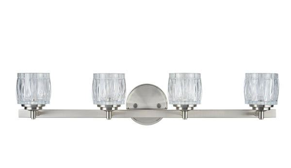 # 62112 4 Light Bathroom Vanity Wall Light Fixture, Brushed Nickel