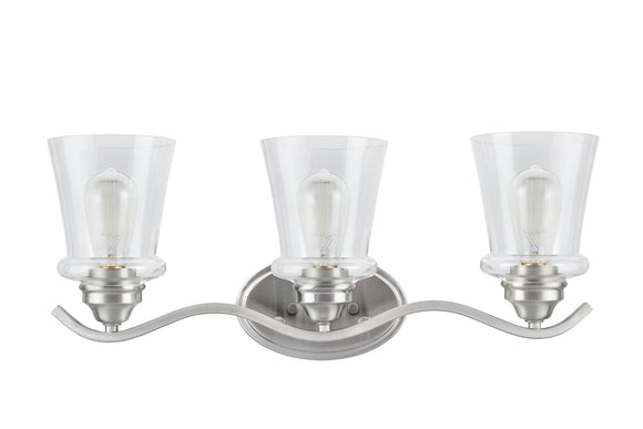 # 62117-1 Three-Light Metal Bathroom Vanity Wall Light Fixture, 24