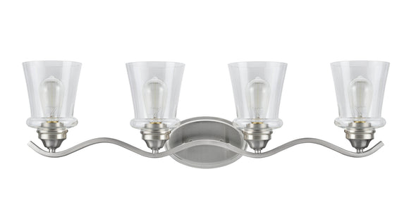 # 62118-1, 4 Light Metal Bathroom Vanity Wall Light Fixture, 33