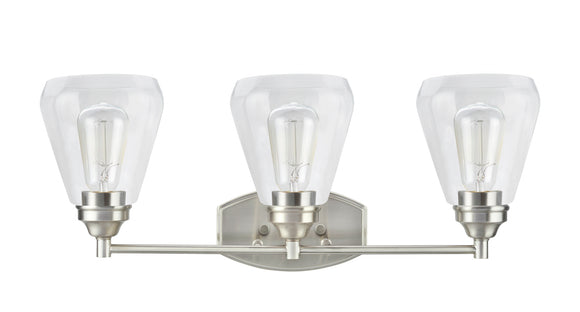 # 62121-1, 3 Light Metal Bathroom Vanity Wall Light Fixture, 24