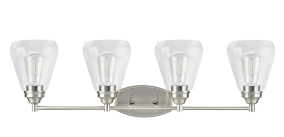 # 62122-1, 4 Light Metal Bathroom Vanity Wall Light Fixture, 34