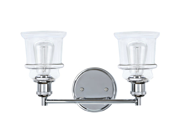# 62124, 2 Light Metal Bathroom Vanity Wall Light Fixture, 14 1/2