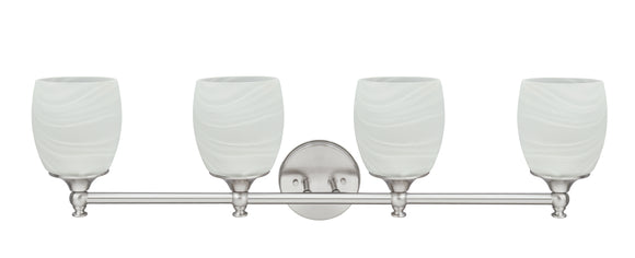 # 62144, Four-Light Metal Bathroom Vanity Wall Light Fixture, 31