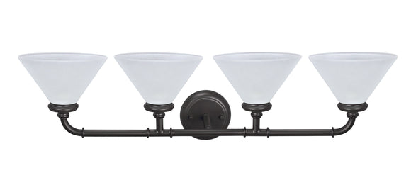 # 62148, Four-Light Metal Bathroom Vanity Wall Light Fixture, 6-1/2