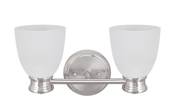 # 62154, Two-Light Metal Bathroom Vanity Wall Light Fixture, 14-3/4