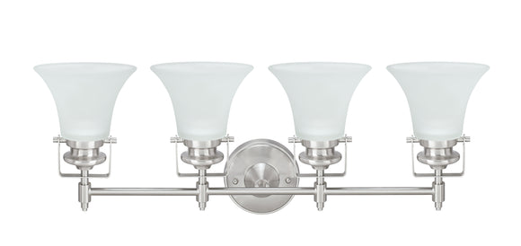 # 62160, Four-Light Metal Bathroom Vanity Wall Light Fixture, 28-1/2