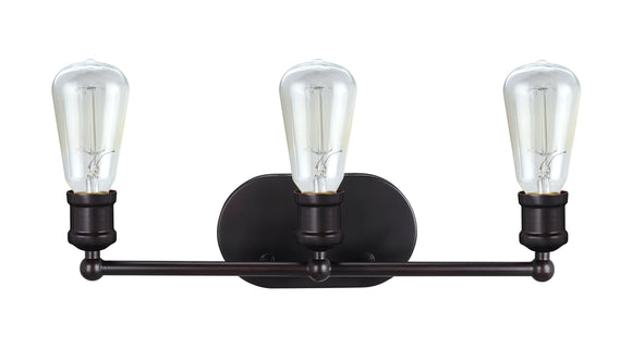 # 62167, Three-Light Metal Bathroom Vanity Wall Light Fixture, 19-1/4