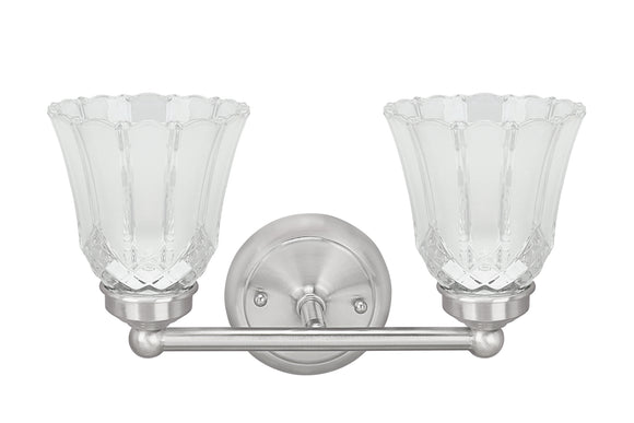 # 62171-1, Two-Light Metal Bathroom Vanity Wall Light Fixture, 13