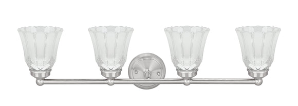 # 62173-1, Four-Light Metal Bathroom Vanity Wall Light Fixture, 30