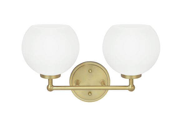 # 62223, Two-Light Metal Bathroom Vanity Wall Light Fixture, 14-1/2