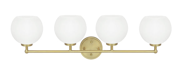 # 62225, Four-Light Metal Bathroom Vanity Wall Light Fixture, 31