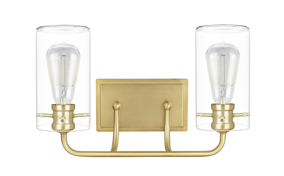 # 62235-2, Two-Light Metal Bathroom Vanity Wall Light Fixture, 16