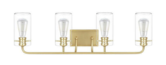 # 62237-2, Four-Light Metal Bathroom Vanity Wall Light Fixture, 33-5/8
