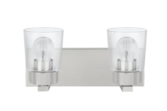 # 62243 Two-Light Metal Bathroom Vanity Wall Light Fixture, 14
