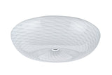 "# 63001L LED Large Flush Mount Ceiling Light Fixture, Contemporary Design in Chrome Finish, Frosted Glass Diffuser, 18"" Diameter"