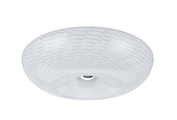 # 63001M LED Medium Flush Mount Ceiling Light Fixture, Contemporary Design in Chrome Finish, Frosted Glass Diffuser, 16