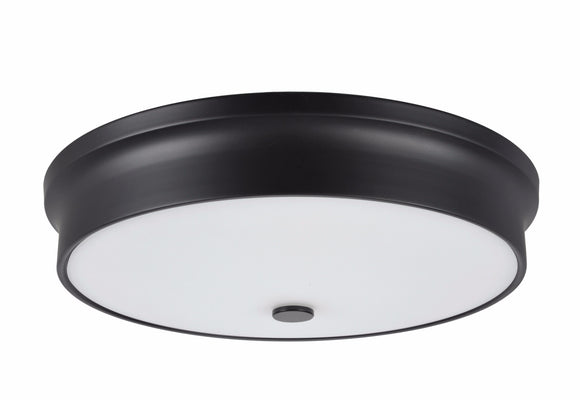 # 63005L-3 LED Large Flush Mount Ceiling Light Fixture, Contemporary Design in Black Finish, Frosted Glass Diffuser, 15