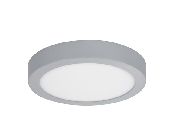 # 63006L-2 LED Large Flush Mount Ceiling Light Fixture, Contemporary Design in Silver Finish, Frosted Glass Diffuser, 9