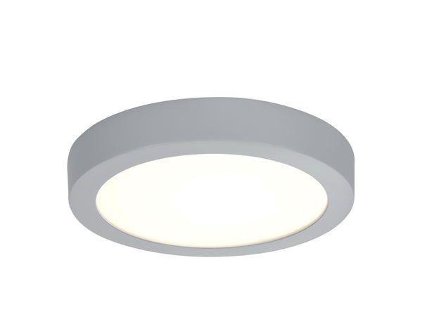 "# 63006L-2 Large Flush Mount Ceiling Light Fixture, Contemporary Design, in Silver Finish with Frosted Glass Diffuser, 9"" D, REGULAR PRICE $73.99 - Now..."
