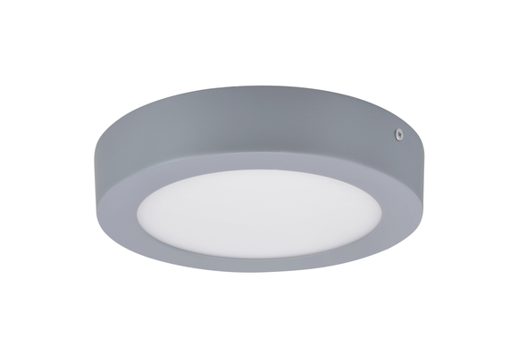 # 63006M-2 LED Medium Flush Mount Ceiling Light Fixture, Contemporary Design, Silver Finish, Frosted Glass Diffuser, 7