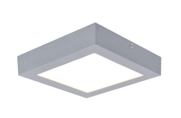 "# 63007M-2 LED  Flush Mount Ceiling Light Fixture, Contemporary Design in Silver Finish, Frosted Glass Diffuser, 7"" Square, REGULAR PRICE $65.99 - Now..."