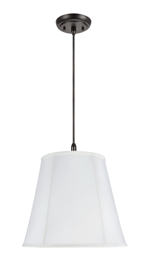 # 75002 2-Light Hanging Pendant Ceiling Light with Transitional Hexagon Bell Fabric Lamp Shade, Off White Cotton, 16