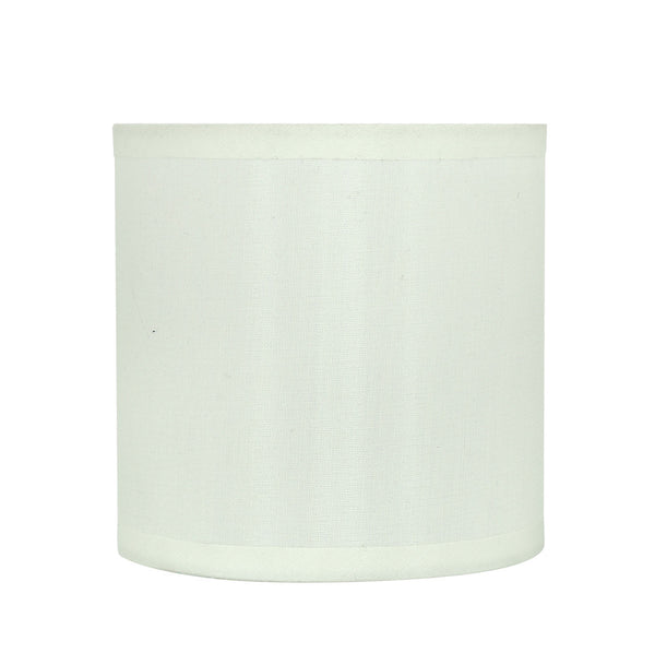 "# 31001 Small Hardback Drum Shape Mini Chandelier Clip-On Shade, Transitional Design, Off White, 5"" bottom width (5"" x 5"" x 5"")"