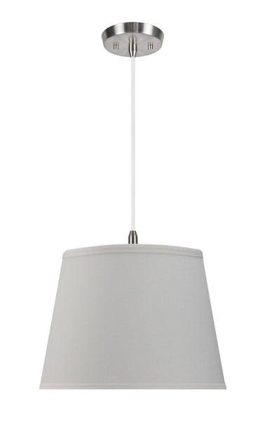 "# 72056 2-Light Hanging Pendant Ceiling Light with Transitional Hardback Fabric Lamp Shade, Off White Linen, 15"" W"