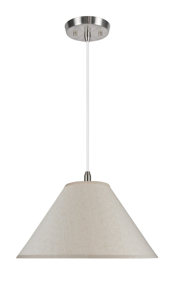 # 72201 2-Light Hanging Pendant Ceiling Light with Transitional Hardback Fabric Lamp Shade, Off White Textured, 19
