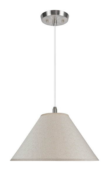 "# 72201 2-Light Hanging Pendant Ceiling Light with Transitional Hardback Fabric Lamp Shade, Off White Textured, 19"" W"