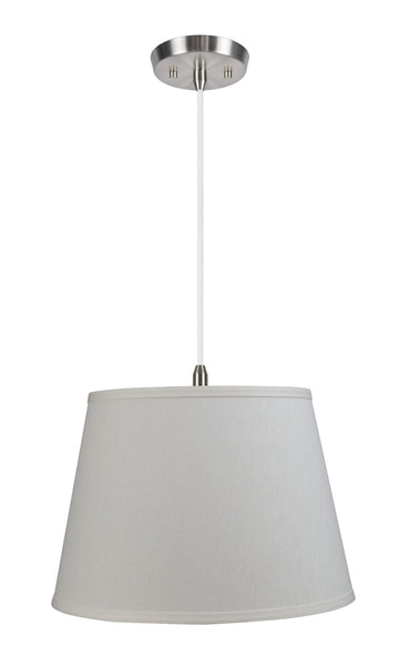 "# 72050 1-Light Hanging Pendant Ceiling Light, Transitional Hardback Fabric Lamp Shade, Eggshell Gauze Textured, 14"" W"