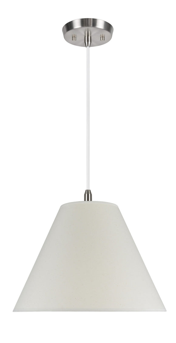 # 72016  2-Light Hanging Pendant Ceiling Light with a Transitional Hardback Fabric Lamp Shade, in an Ivory Cotton, 16