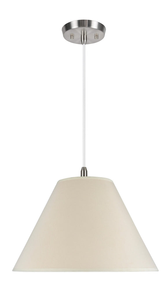 # 72024 2-Light Hanging Pendant Ceiling Light with Transitional Hardback Fabric Lamp Shade, Butter Creme Cotton, 18