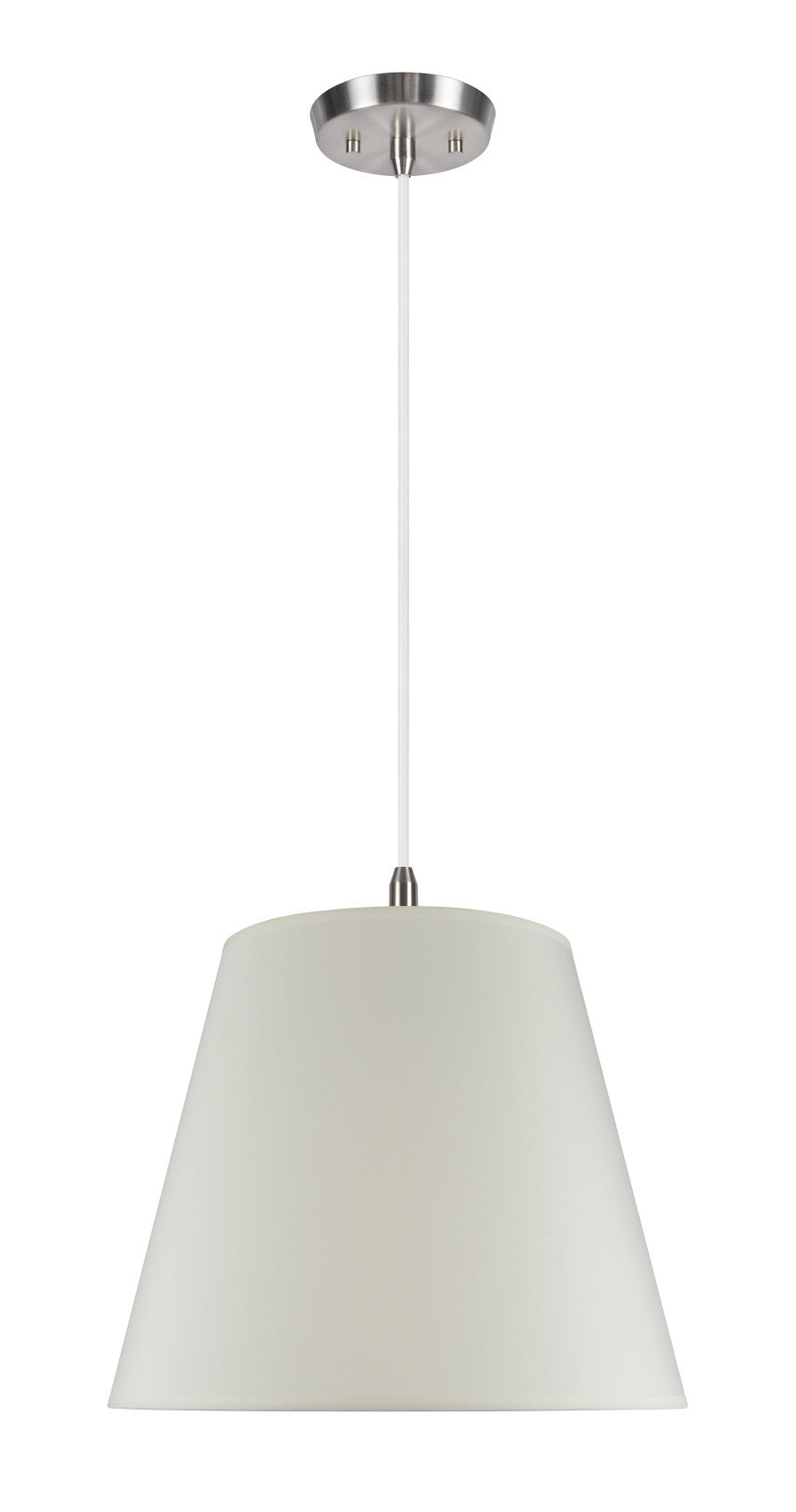 72027 2 light hanging pendant ceiling light with transitional hardback fabric lamp shade in ivory cotton 18 w