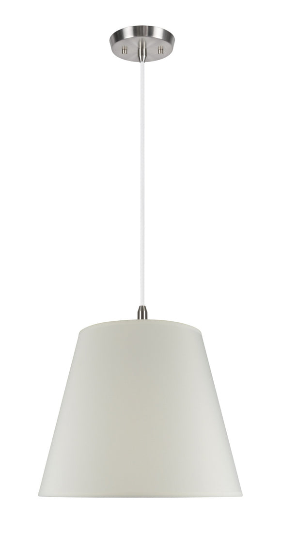 # 72027 2-Light Hanging Pendant Ceiling Light with Transitional Hardback Fabric Lamp Shade, in Ivory Cotton, 18