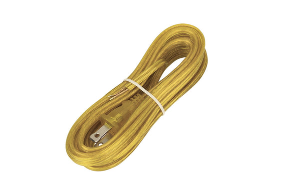 # 21201 15 Feet Lamp Cord Set with Molded Polarized Plug in Gold