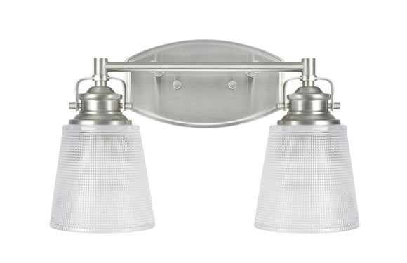 # 62086 2 Light Metal Bathroom Vanity Wall Light Fixture, 14 1/4