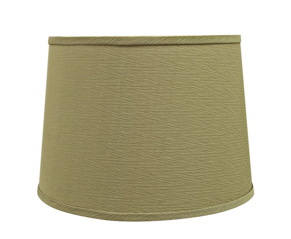"# 32318 Transitional Hardback Empire Shaped Spider Construction Lamp Shade in Yellowish Brown, 14"" wide (12"" x 14"" x 10"")"