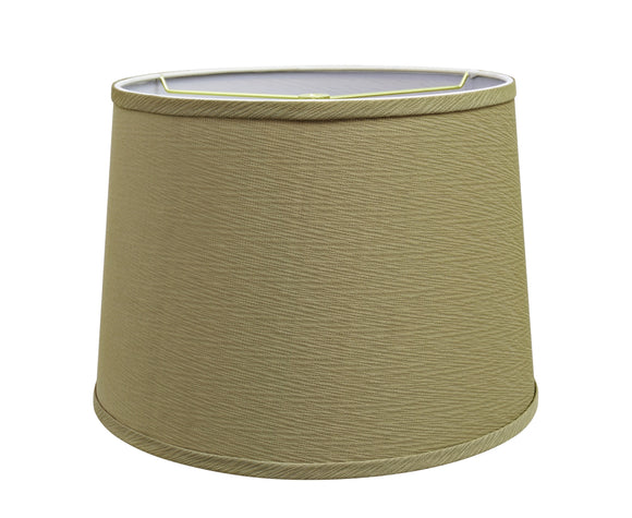 # 32318 Transitional Hardback Empire Shaped Spider Construction Lamp Shade in Yellowish Brown, 14