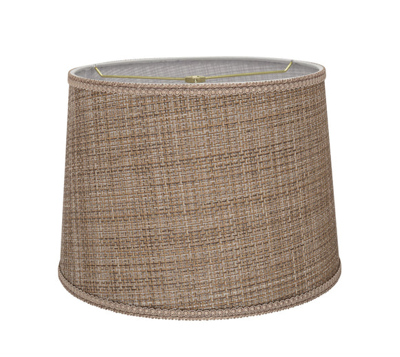 # 32310 Transitional Hardback Empire Shaped Spider Construction Lamp Shade in Brown Tweed, 14