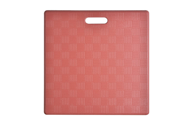 "# 18001-41 Anti-Fatigue, Ergonomically Engineered, Non-Toxic, Non-Slip, Waterproof, All-Purpose PU Floor Mat, Basket Weave Pattern, 20"" x 20"" x .62"" thickness, Marsala Color (1 Pack)"