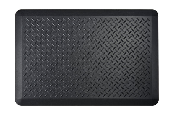 # 18003-32 Anti-Fatigue, Ergonomically Engineered, Non-Toxic, Non-Slip, Waterproof, All-Purpose PU Floor Mat, Tread Plate Pattern, 24