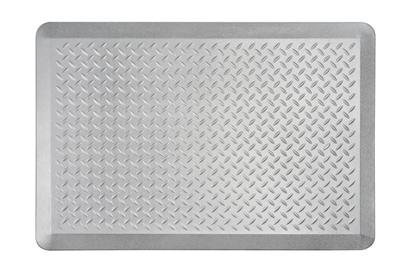# 18003-22 Anti-Fatigue, Ergonomically Engineered, Non-Toxic, Non-Slip, Waterproof, All-Purpose PU Floor Mat, Tread Plate Pattern, 24
