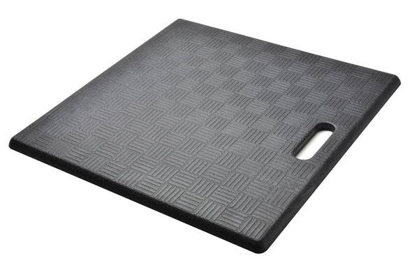 "# 18001-31 Anti-Fatigue, Ergonomically Engineered, Non-Toxic, Non-Slip, Waterproof, All-Purpose PU Floor Mat, Basket Weave Pattern, 20"" x 20"" x .62"" thickness, Black Color (1 Pack)"