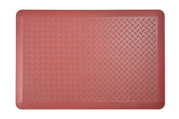 # 18003-41 Anti-Fatigue, Ergonomically Engineered, Non-Toxic, Non-Slip, Waterproof, All-Purpose PU Floor Mat, Tread Plate Pattern, 24