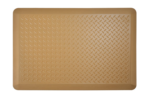 # 18003-11 Anti-Fatigue, Ergonomically Engineered, Non-Toxic, Non-Slip, Waterproof, All-Purpose PU Floor Mat, Tread Plate Pattern, 24