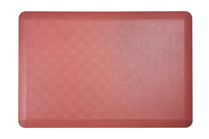 "# 18002-41 Anti-Fatigue, Ergonomically Engineered, Non-Toxic, Non-Slip, Waterproof, All-Purpose PU Floor Mat, Basket Weave Pattern, 24"" x 36"" x .7"" thickness, Marsala Color (1 Pack)"